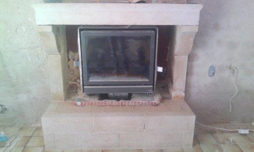 Restauration et modification d'une cheminée